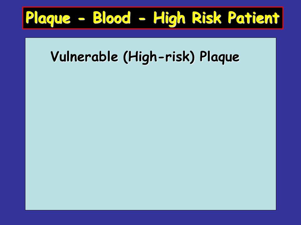 Vulnerable (High-risk) Plaque Plaque - Blood - High Risk Patient