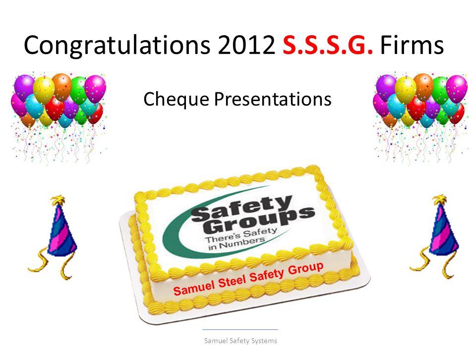 Congratulations 2012 S.S.S.G.