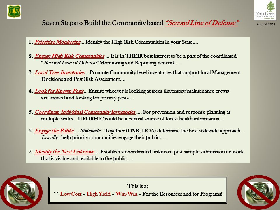 Seven Steps to Build the Community based Second Line of Defense 15 1.