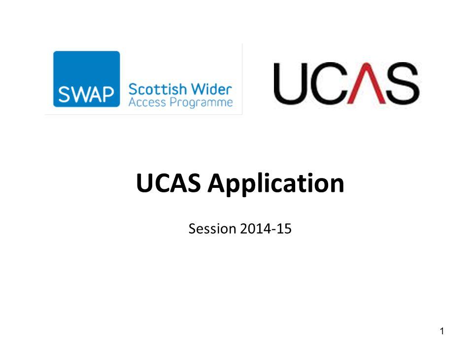 UCAS Application Session 2014-15 1