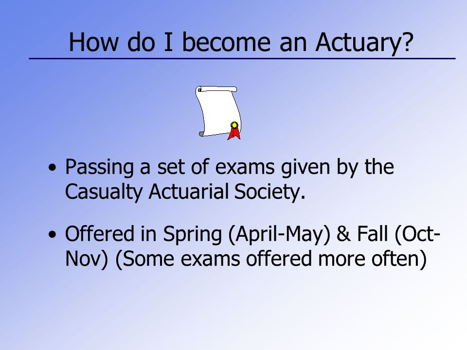 What do Actuaries do.