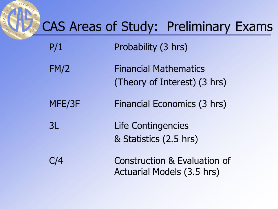 How do I become an Actuary.Passing a set of exams given by the Casualty Actuarial Society.