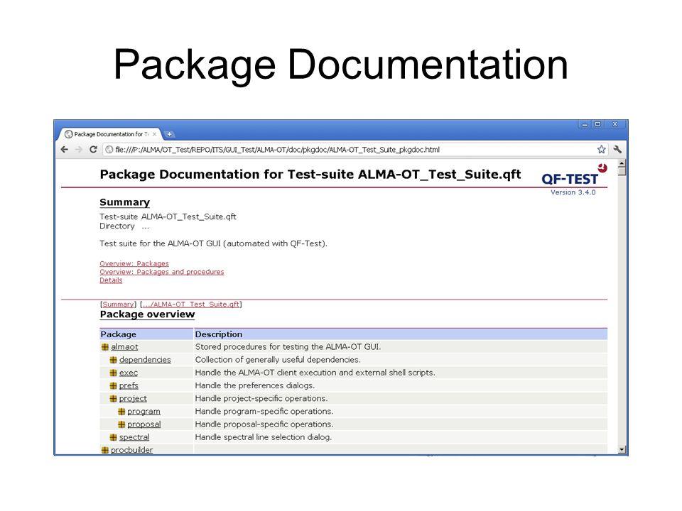 Short Demo Video to show a test set while it runs http://www.eso.org/~psivera/VideoOtAndQ fTest/OtAndQfTestVideoHigherVolumeImp roved.html
