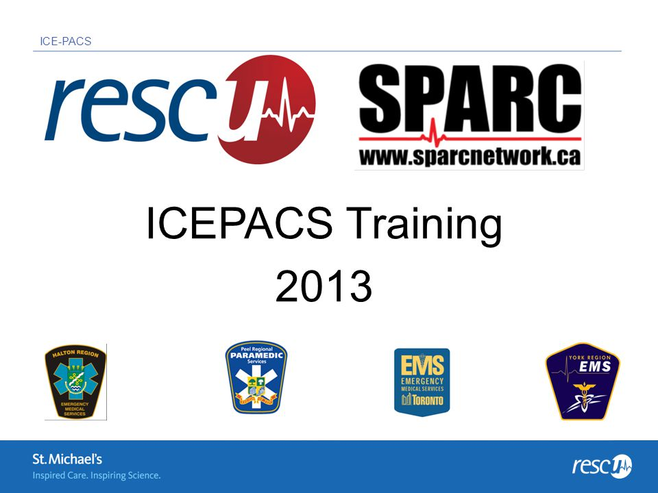 ICE-PACS ICEPACS Training 2013