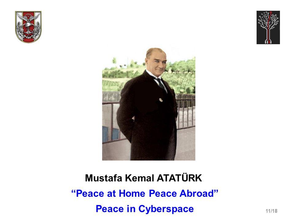 11/18 Mustafa Kemal ATATÜRK Peace at Home Peace Abroad Peace in Cyberspace