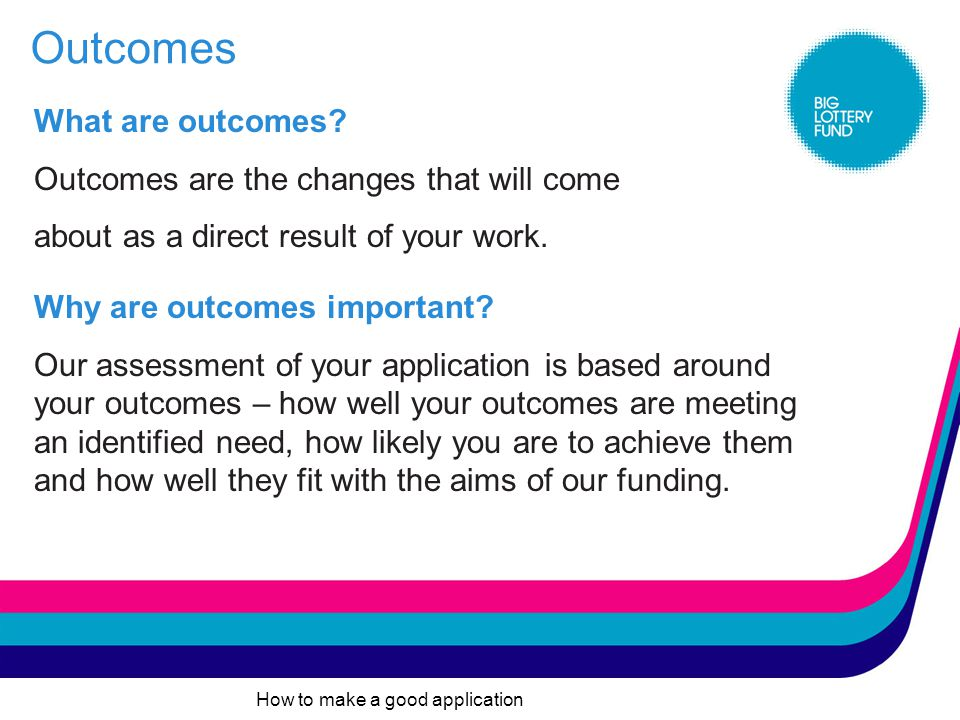 How to make a good application Evidence could include: good quality recent inclusive consultation internally (with participants, staff board members etc) and externally (with stakeholders, partners, wider community etc) recent relevant research undertaken in-house or using results from research already undertaken by other organisations beneficiary engagement in the development of the project the experience & knowledge of people in your group (e.g.