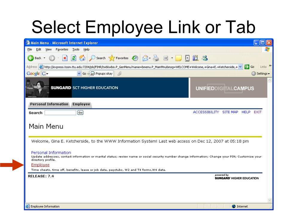 Select Electronic Personnel Action Forms