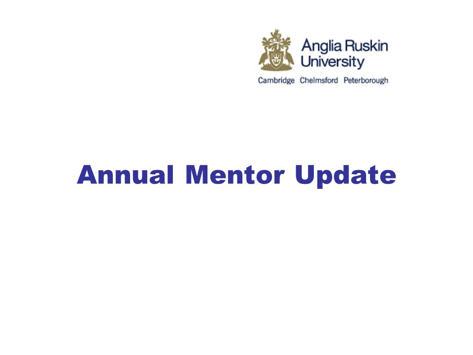 Annual Mentor Update