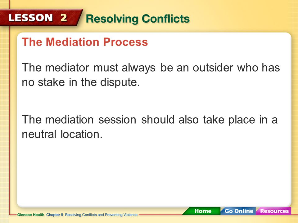The Mediation Process Three Basic Principles of Effective Mediation Neutrality Confidentiality Well-Defined Ground Rules