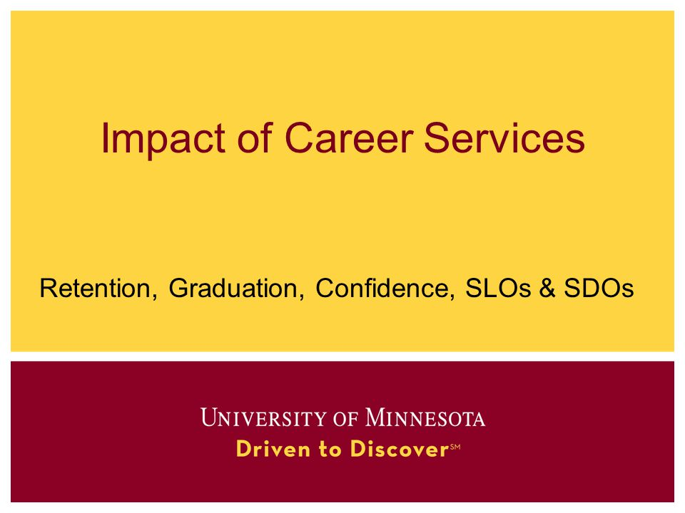 Impact of Career Services Retention, Graduation, Confidence, SLOs & SDOs