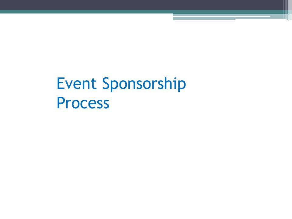 Event Sponsorship Process
