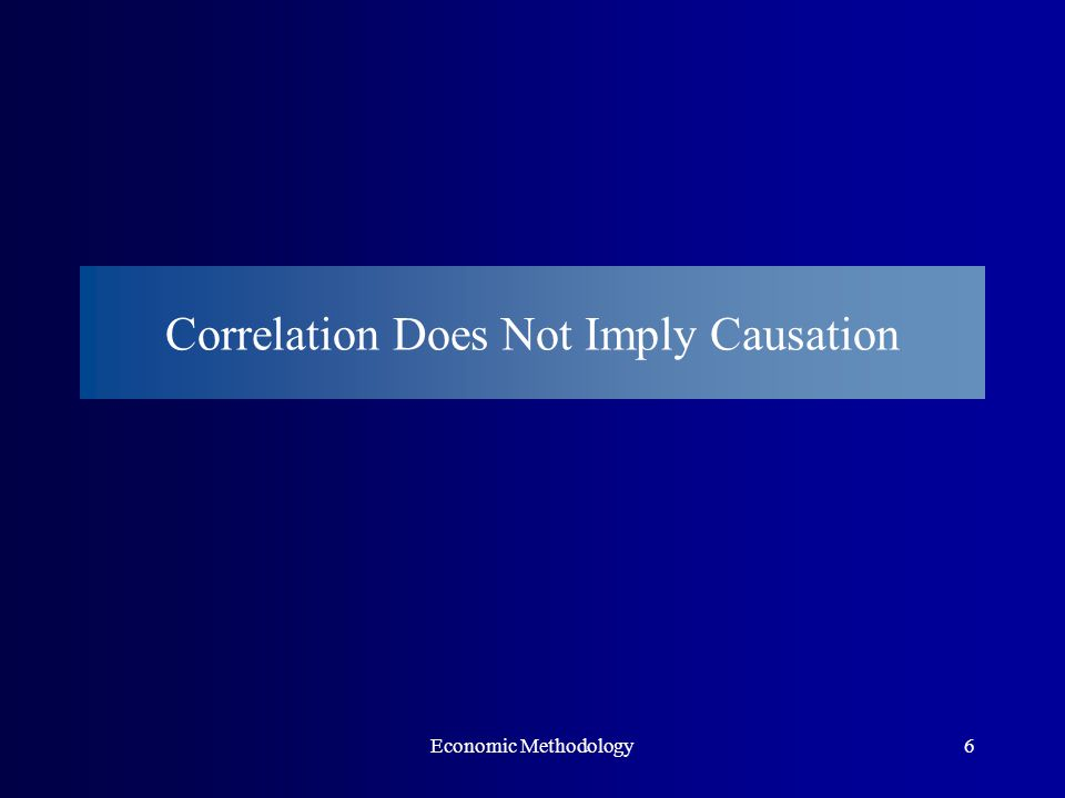 Economic Methodology6 Correlation Does Not Imply Causation