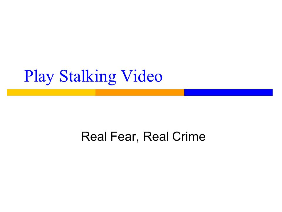 Stalking victims ● are eligible for protective orders and orders are enforced just like any protective order under the law T.C.A.