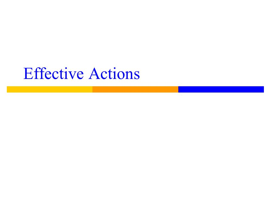 Effective Actions
