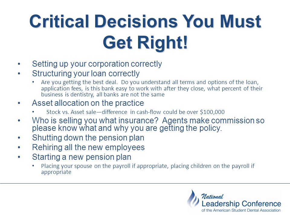 Critical Decisions You Must Get Right.