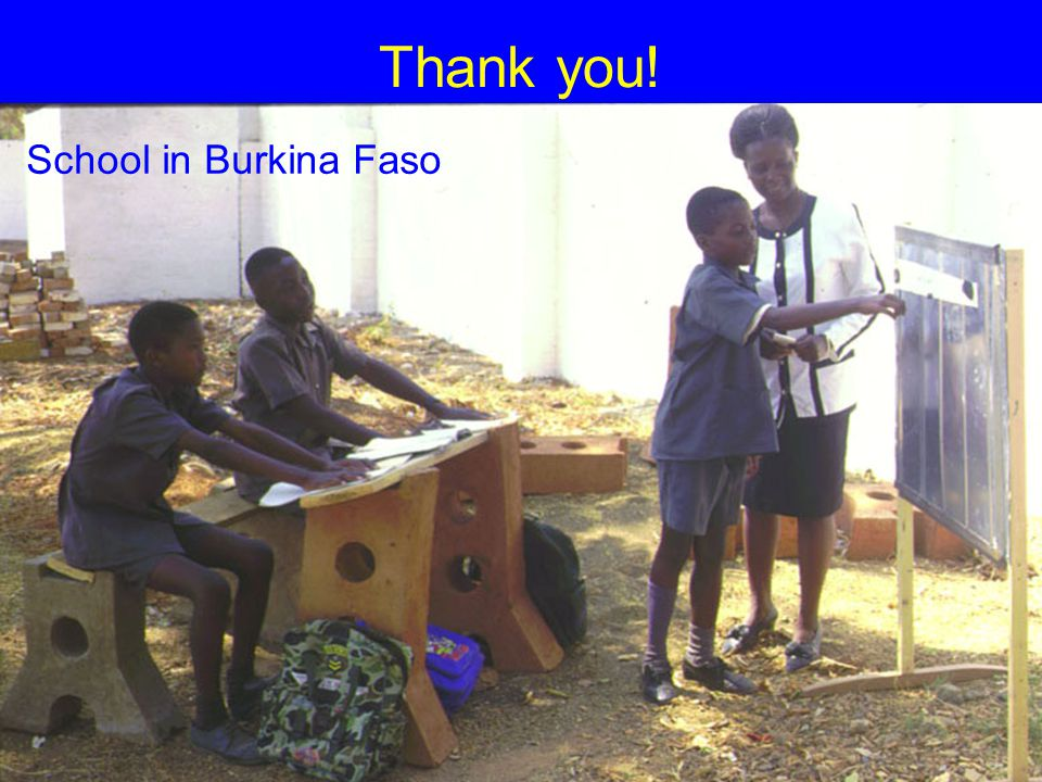 2007-3-27Joel E. Cohen19 Thank you! School in Burkina Faso