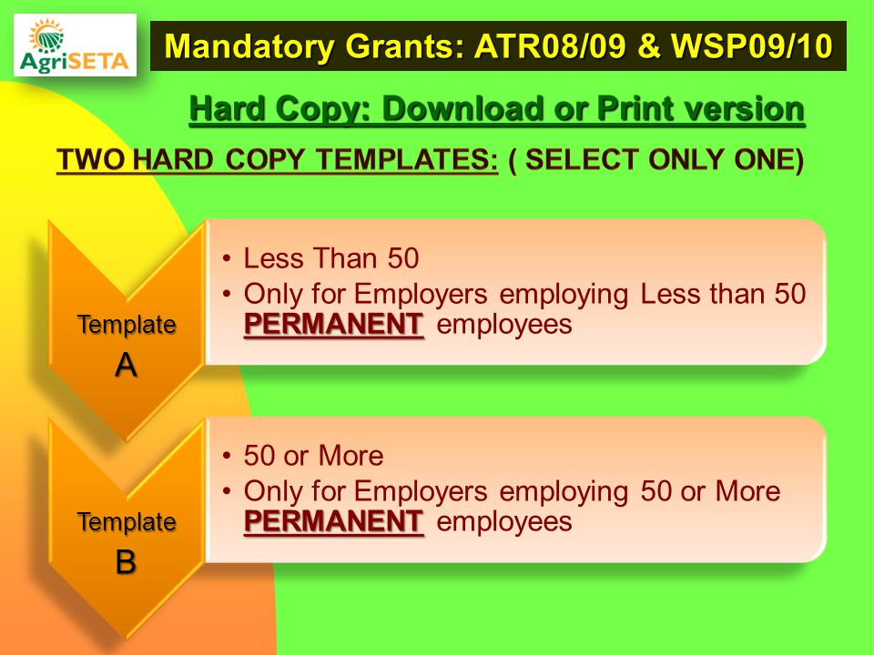 Hard Copy: Download or Print version Mandatory Grants: ATR08/09 & WSP09/10