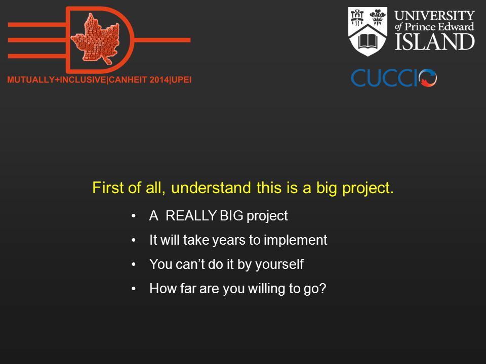 For each major project: Assign a Project Manager and a Business Analyst  Funding for the Business Analyst provided by the OPR Get all the interested units and major faculties involved Establish a working group  Faculties, Office of Primary Responsibility, PM, BA, Alfresco Developer, University Records Officer, Project Owner and other Ex-Officio  Program or Project Manager provides regular updates to the Steering Committee This is a chance to re-engineer our business processes and adopt a set of common processes and forms How can we get them to think digitally?