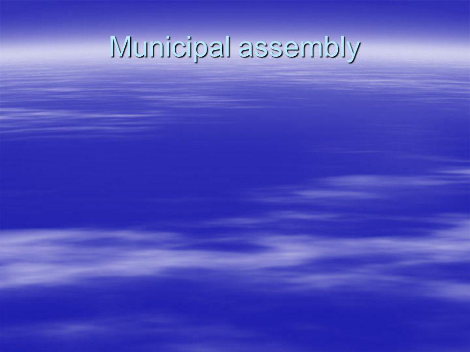 Municipal assembly