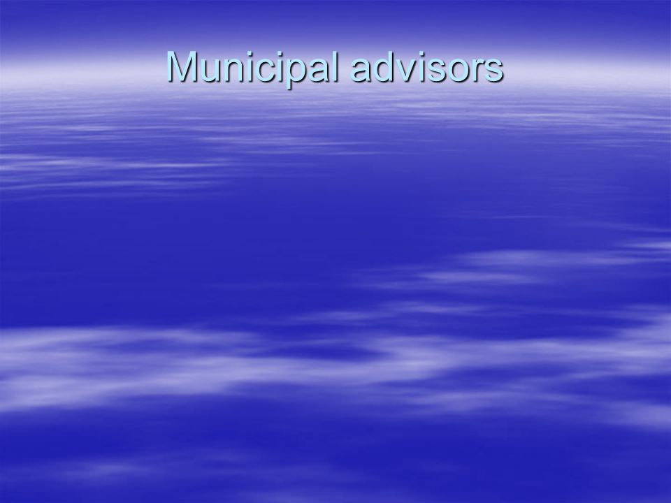 Municipal advisors