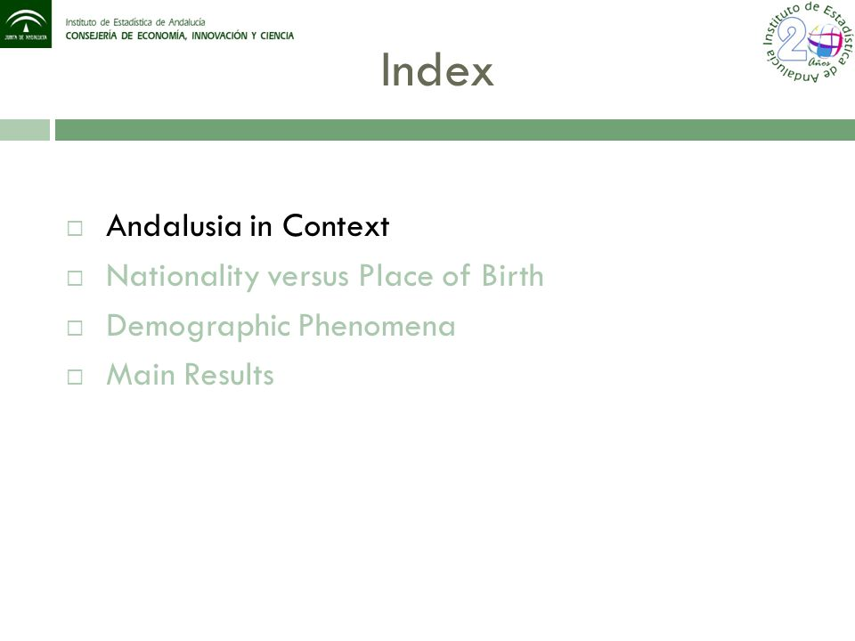 Demographic Phenomena 1.