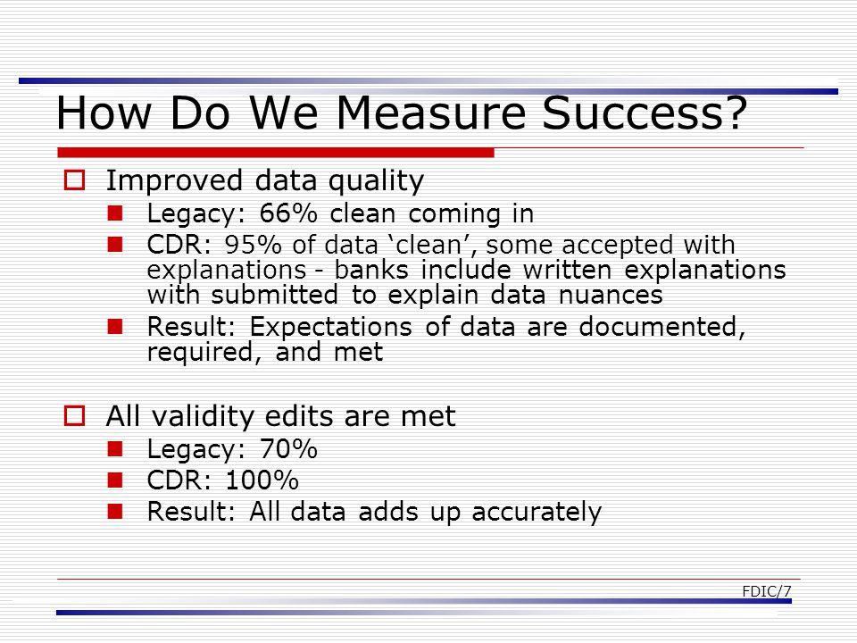 FDIC/7 How Do We Measure Success.
