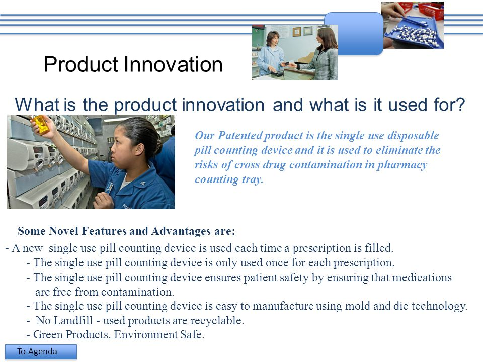 Product Innovation What is the product innovation and what is it used for.