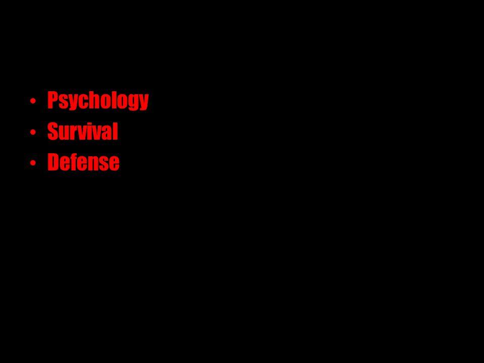 Psychology Survival Defense