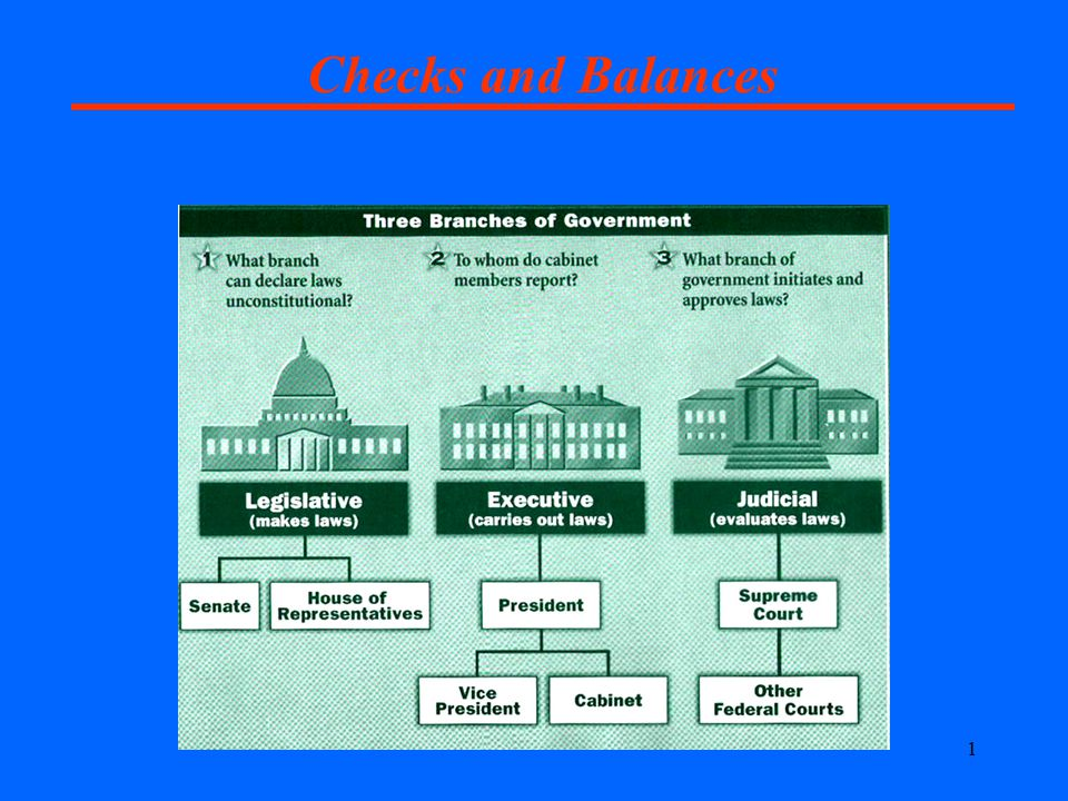 1 Checks and Balances