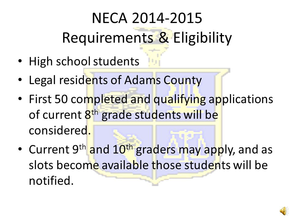 Natchez Early College Academy What is NECA? The opportunity to receive a high school diploma and up to 28 college credit Mixture of high school and co
