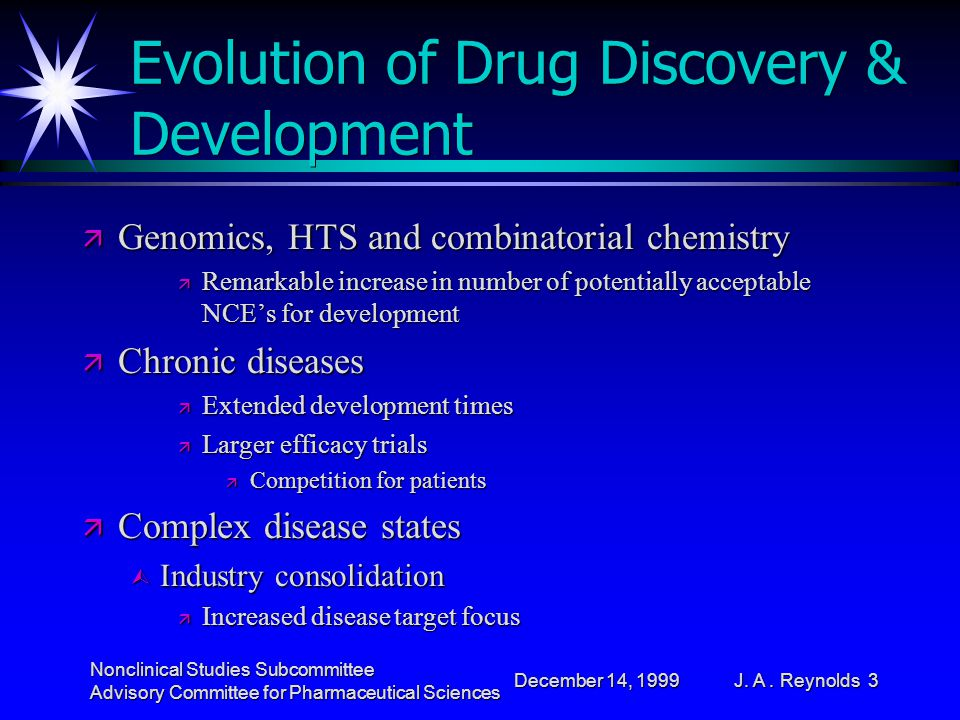 December 14, 1999 Nonclinical Studies Subcommittee Advisory Committee for Pharmaceutical Sciences J.