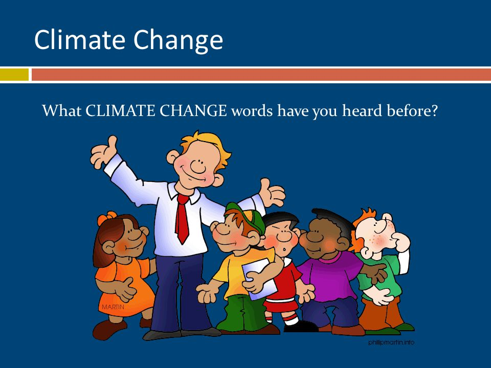 Climate Change What CLIMATE CHANGE words have you heard before