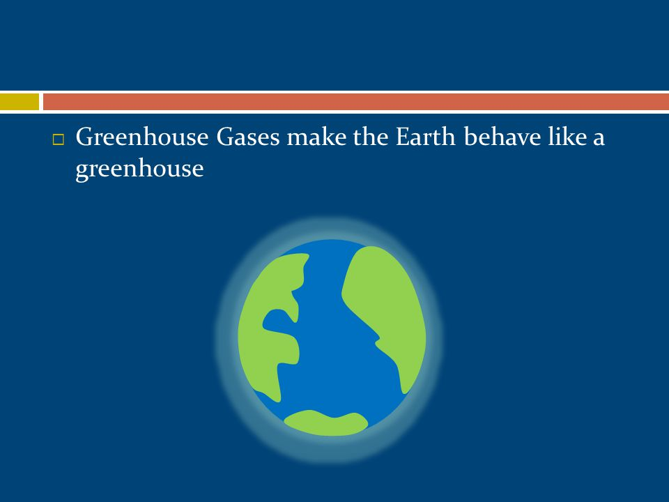  Greenhouse Gases make the Earth behave like a greenhouse