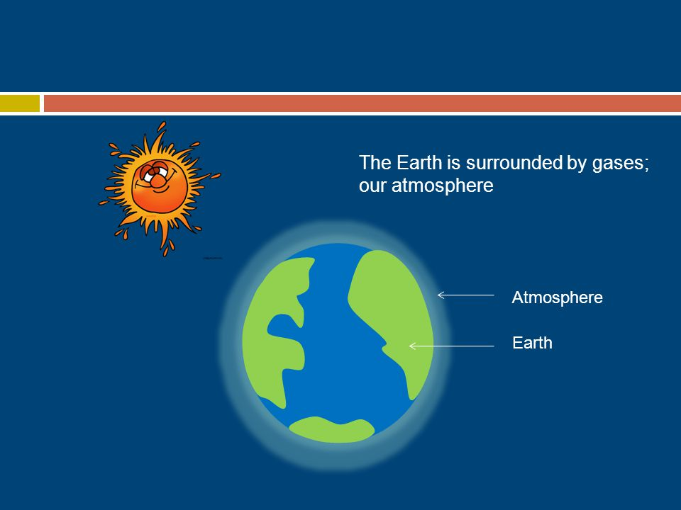 Atmosphere Earth The Earth is surrounded by gases; our atmosphere