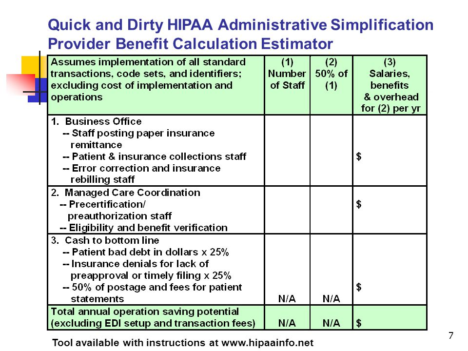 18 Health Care Claim Payment (835) Benefit for the Providers Faster payment posting Fewer payment posting errors Faster billing to secondary insurance and patient for self-pay balance Impact on Patient Fewer errors on patient statements Self-pay balance is due sooner