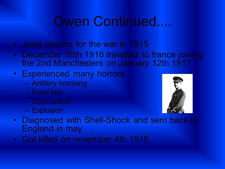 Owen Continued....