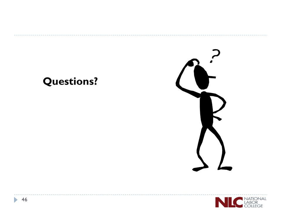 46 Questions?