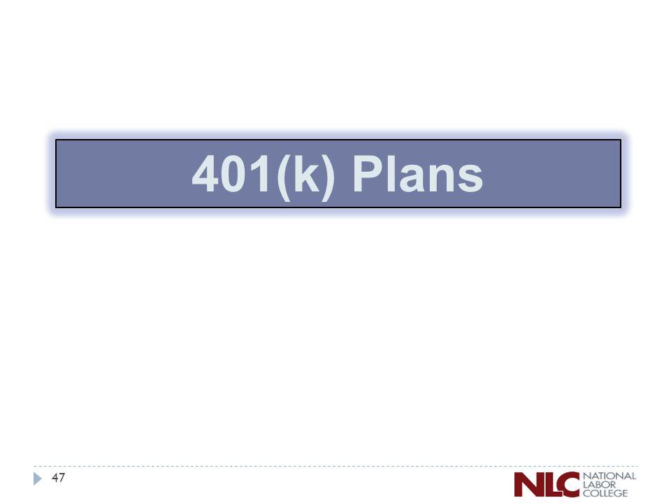 47 401(k) Plans