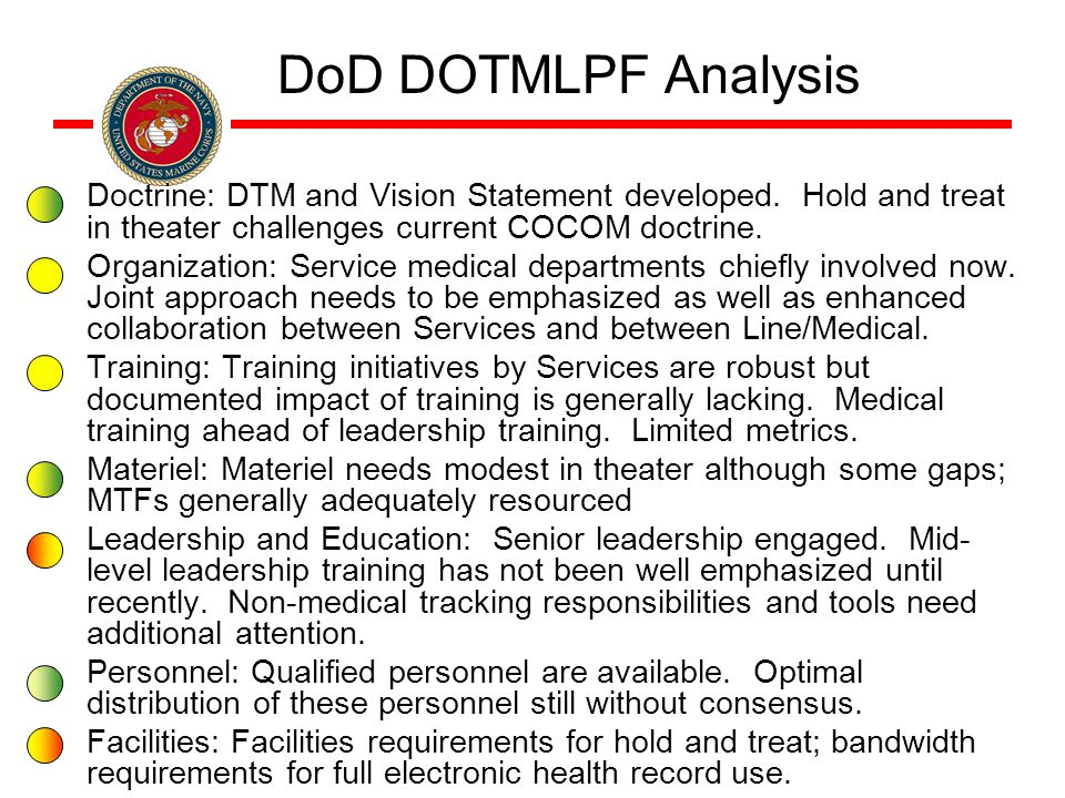 Doctrine: DTM and Vision Statement developed.