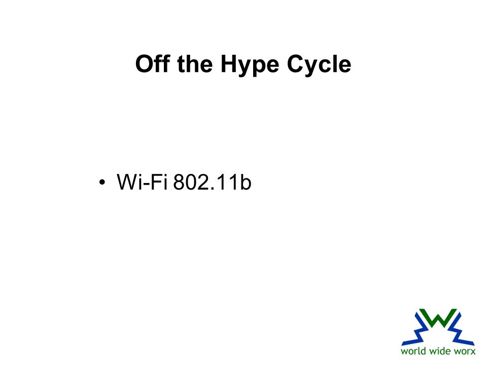 Off the Hype Cycle Wi-Fi 802.11b