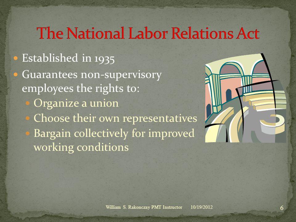 10/19/2012 17 William S.Rakonczay PMT Instructor Questions.