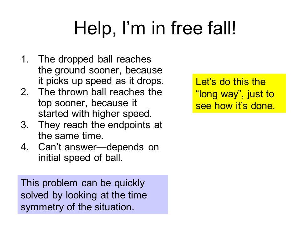 Help, I'm in free fall. 1.