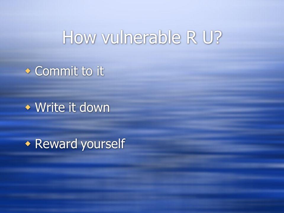 How vulnerable R U.