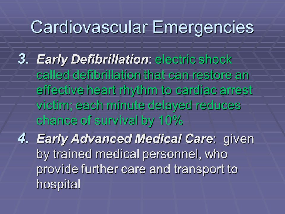 Cardiovascular Emergencies 3.