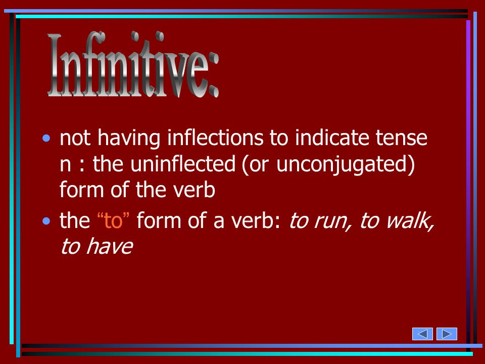1.Grammar. To inflect a verb in its forms for distinctions such as number, person, voice, mood, and tense. Examples of a conjugation… –I run. –You hav