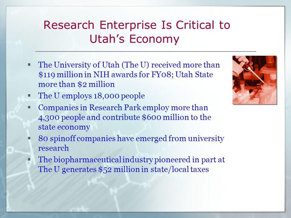 NIH Grants Support Many Programs in Utah  The John A.