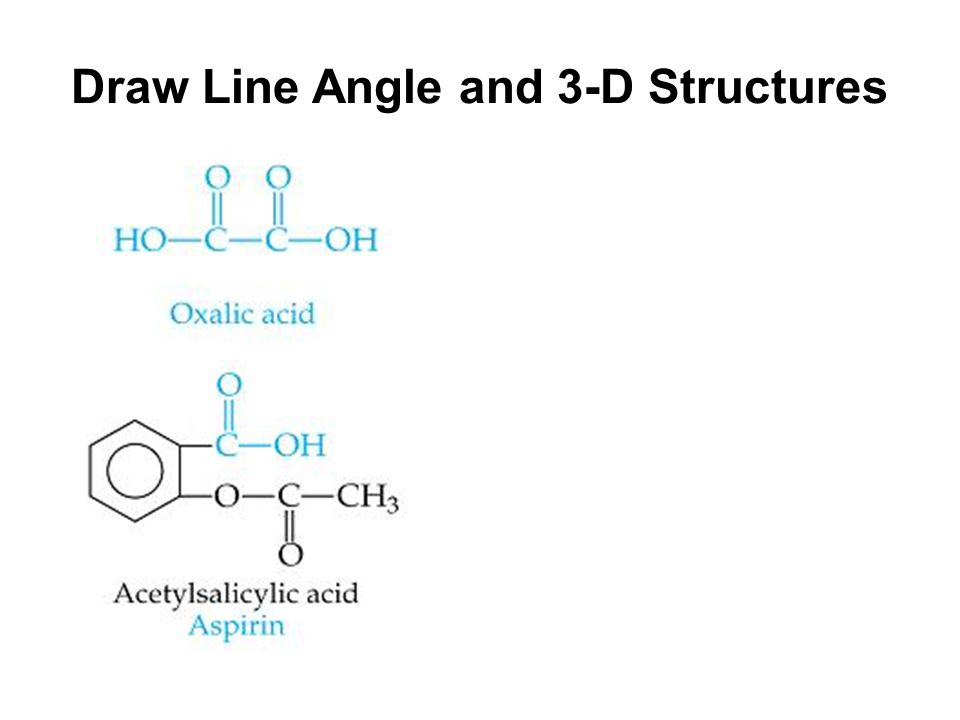 Draw Line Angle and 3-D Structures