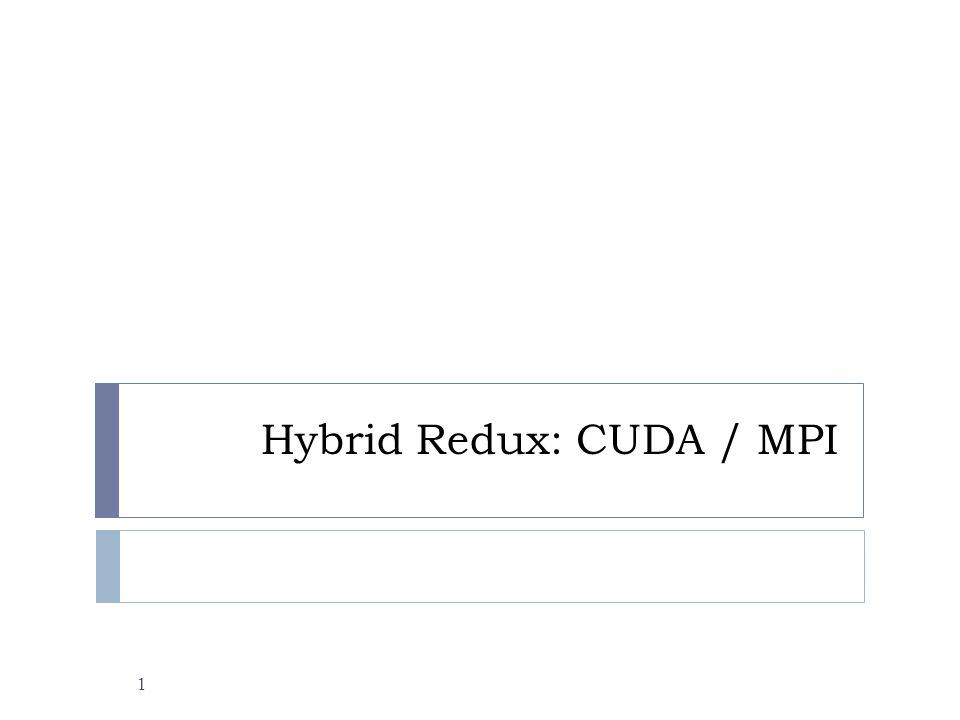 Hybrid Redux: CUDA / MPI 1