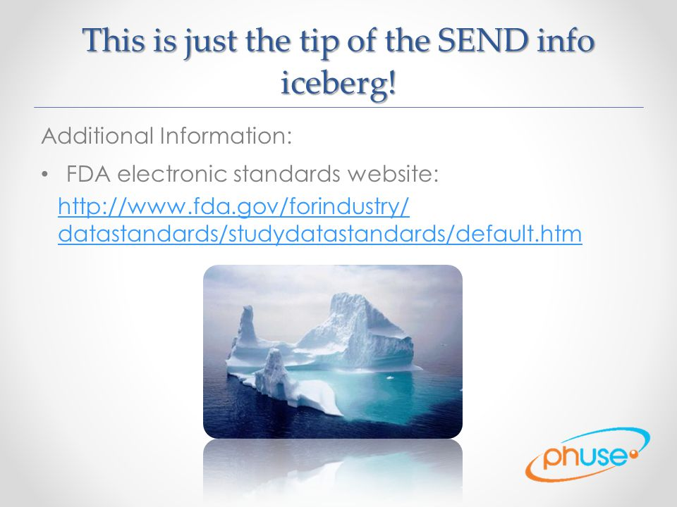 This is just the tip of the SEND info iceberg.