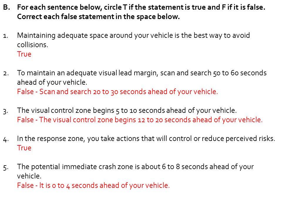 Chapter 3 Study Guide Drivers Ed Sevenem
